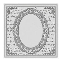 ORNATE MIRROR - ULTIMATE CRAFTs -  6x6 Embossing Folder -  Retired and Rare !!