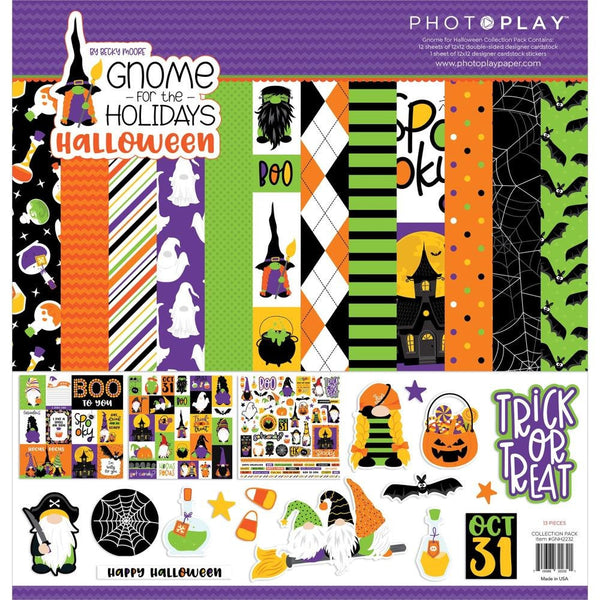 GNOME for HALLOWEEN  !! BUNDLE !!  GNOMEs - by Photoplay Papers - 12x12 Cardstock & Ephemera BuNDLE !! - New !!
