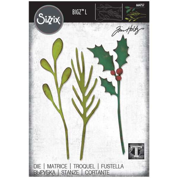 FESTIVE STEMs by TIM HOLTZ  Bigz L 664757 -  BiGZ Die from SiZZIX   # 664757 - HOLIDAYs 2020   New !!!