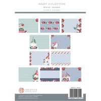 WINTER GNOMES INSERTs  by Paper Boutique - CHRISTMAS GNOMEs -INSERTs Pad - 40 SHEETs - NeW !!   PB1400