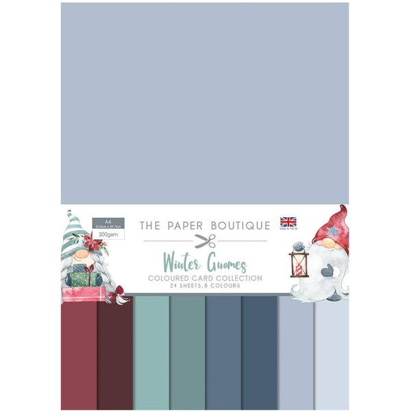 WINTER GNOMES SOLIDs   by Paper Boutique - CHRISTMAS GNOMEs -COLORs 36 SHEETs - NeW !!   PB1401