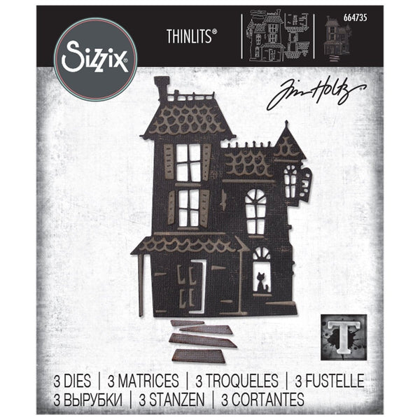 HAUNTED HOUSE by Tim HOLTZ THINLITs DIEs  from SIZZiX  # TH664735   - New !!