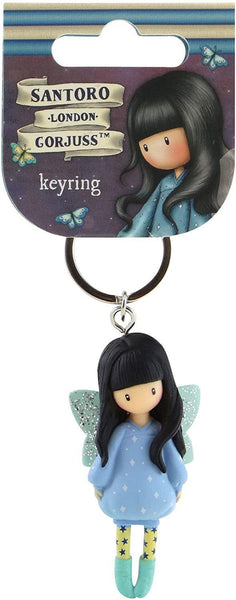"GORJUSS GIRLs ""BUBBLE FAIRY  ""  KEYRiNG / KeyFob - Molded Doll on Keyring. by  Santoro of London - New !!"