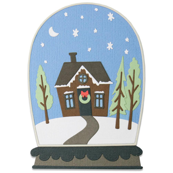 BELL JAR DIORAMA - SNOWGLoBE by Jen Long for SiZZIX - CHRiSTMAS 2020 !  New !! #664479