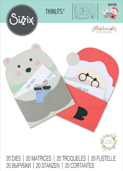 SANTAS LETTER DIEs Set by  Sizzix - THiNLITS Set  by yASMINE rOWLAND  -   CHRISTMAS 2020 !! #664456