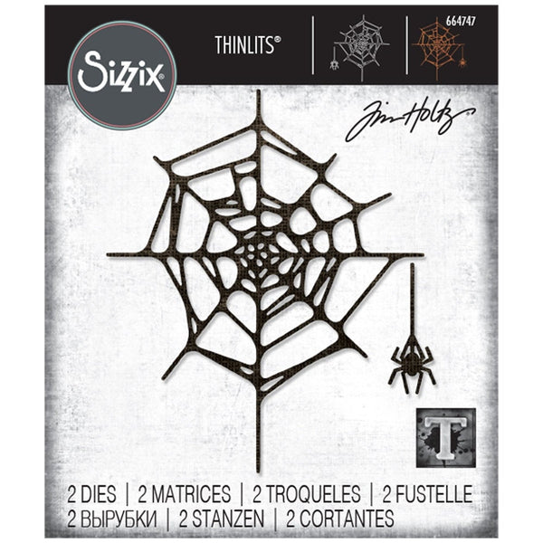 SPIDER WEB  by Tim HOLTZ THINLITs DIEs  from SIZZiX  # TH664747   HALLoWEEN 2020   - New !!