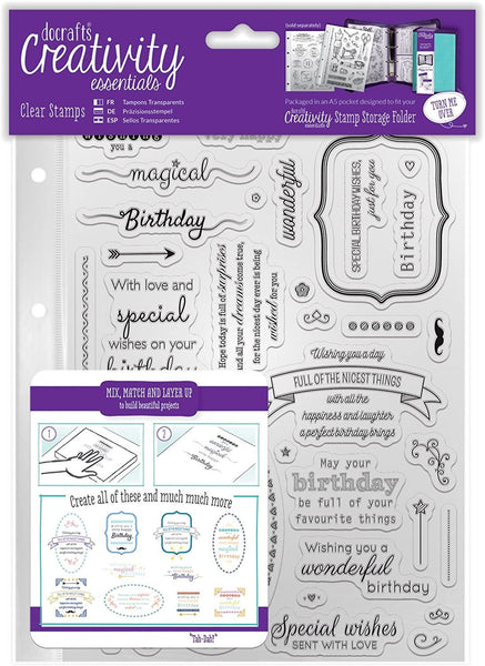 BIRTHDAY VERSES - 39 SENTIMENTs  STAMPs by CREATiVITY ESSENTiALS -   Great for Cards and Stationery !  dce907126
