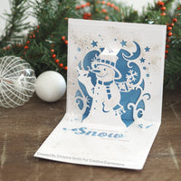 FROSTY FRIENDS - CHRISTMAS  PoP-Up CARDs  CUTTiNG  DIEs by Creative Expressions  -  SNOWMaN  Cards and Gifts