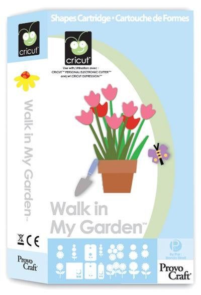 WALK IN My GARDEN - Cricut Cartridge - New and Sealed - Beautiful Flowers and Plants -Rare Full Content -