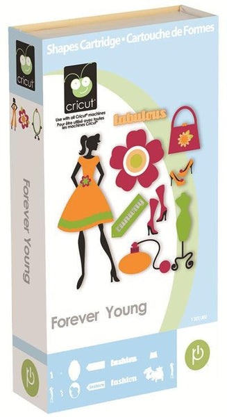 FOREVER YOUNG - CRICUT Cartridge - New in Box - Retired and Rare - Fashion Theme - Shoes, Hats, Purses Die Cutting