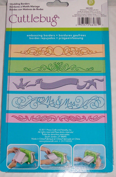 WEDDING BORDERs EMBOSSiNG Cuttlebug Set - Great for Weddings - Bridal Showers and much more !