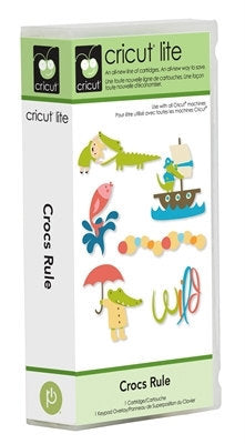 CROCS RULE Cricut LITE Cartridge  - Hard to FInd -RETiRED and RARe -
