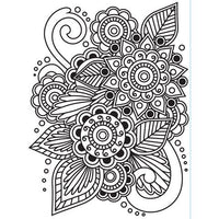 HENNA EMBOSSING Folder by Darice-  Lovely Tatoo Artistic - EMBOSsING FoLDeRS - A2