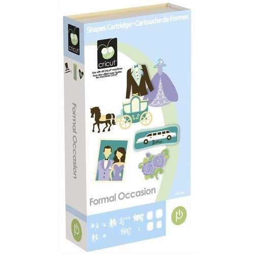 FORMAL OCCASION - Cricut Cartridge  - NEW in Pkg - Sealed - RETIREd - FuLL CoNTENT CARTRIDGe-
