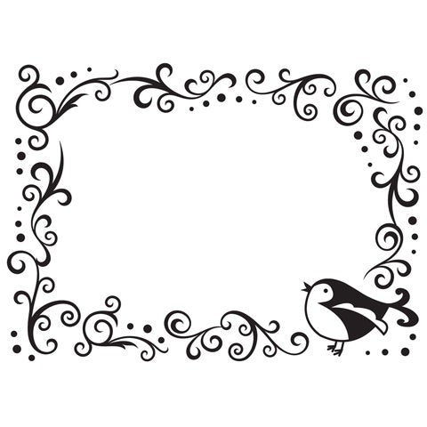 "BIRDIE On SCROLL WORK- EMBOssING FOLdER -   DARICe  A2  approx  4""x6"" NeW"