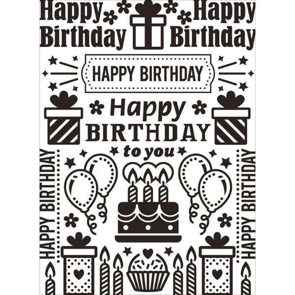 BIRTHDAY COLLAGE  EMBOSsING FoLDeR - A2   Very Beautiful for Card Making - DARiCE