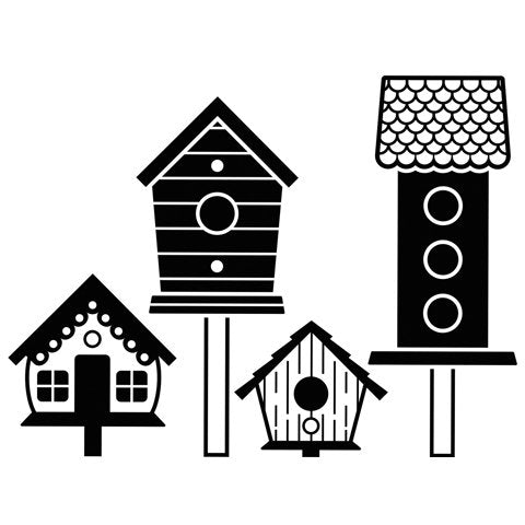 BIRDHOUSES on  POLES EMBOSSING - DARiCE- EMBOSsING FoLDeR - A2  New !  Very Beautiful for Card Making