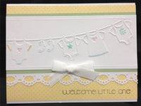 BABY CLOTHES on the LINE -  EMBOSsING FoLDeR - A2 by Darice -for Cuttlebug, Sizzix etc