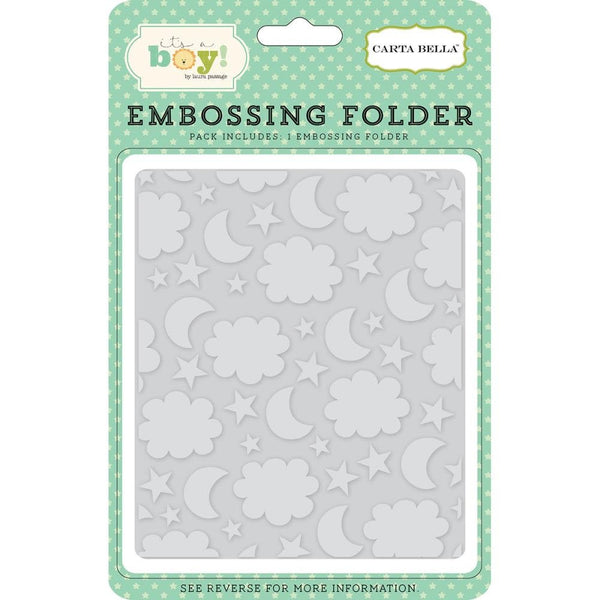 "BABY ""NIGHT SKY  "" EMBOSSiNG FOLDeR -  CARTa BeLLA -  New and Sooooo Cute for Baby Showers and Cards"