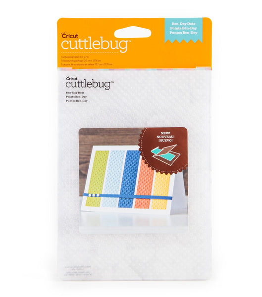 BENDAY DOTS EMBOSSING Folder  by CUTTLEBuG -  -   5x7  BRaND  NeW -  RETiRED