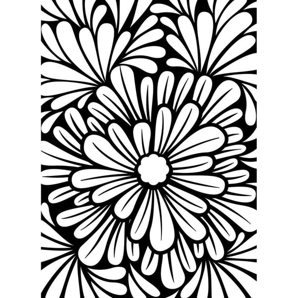 BOLD FLORAL by Darice - EMBOSsING FoLDeR - A2   Very Beautiful for Card Making NEW !!