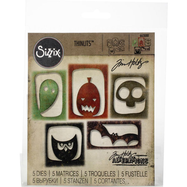 TIM HOLTZ HALLOWEEN HANGOUTS - THINLITS DIE SET - 5 Pcs.  #TH663088