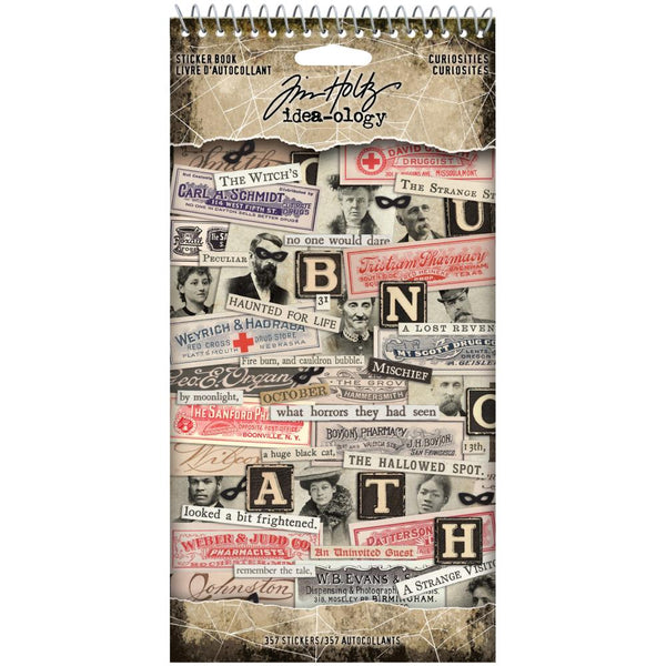 HALLOWEEN TIM HOLTZ - 2020 Sticker Book 357/Pkg by Tim Holtz - Advantus Product TH94059