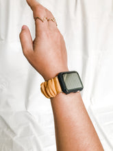 Load image into Gallery viewer, Plain Mustard Apple Watch Scrunchie Band