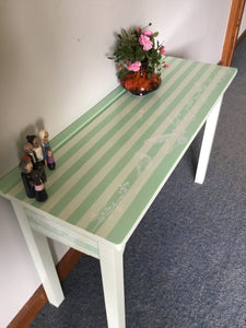 Mint Green Console Table