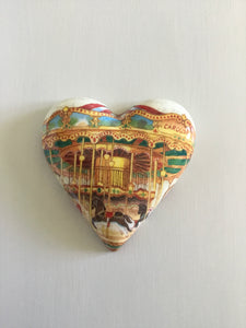 Decoupaged  Hanging Heart