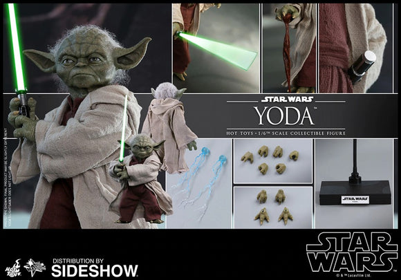 HOT TOYS MMS495 STAR WARS EPISODE II: ATTACK OF THE CLONES YODA 1/6TH SCALE COLLECTIBLE FIGURE