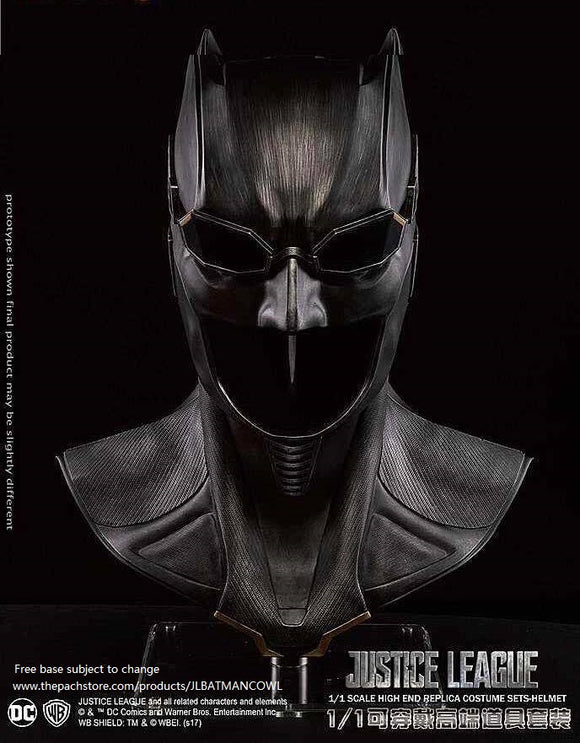 Official Licensed Justice League Batman Bat cowl 1:1 Movie Replica