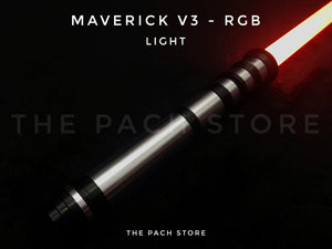 "The Ultimate Maverick v3 RGB - 1"" Duel Worthy, Color changing, Affordable Saber (XMAS SPECIAL)"