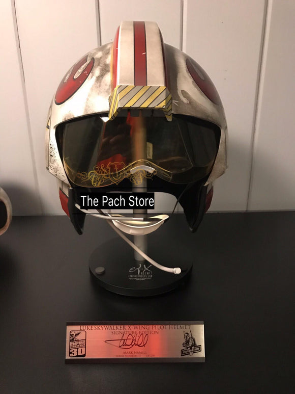 Star Wars Empire Strikes Back EFX Luke Skywalker X-Wing Pilot Helmet signature edition 1:1 Prop Replica