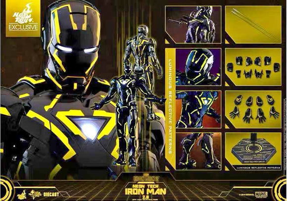IN STOCK - MMS523D29 HOT TOYS IRON MAN 2 NEON TECH IRON MAN 2.0 1/6TH SCALE COLLECTIBLE FIGURE DIECAST