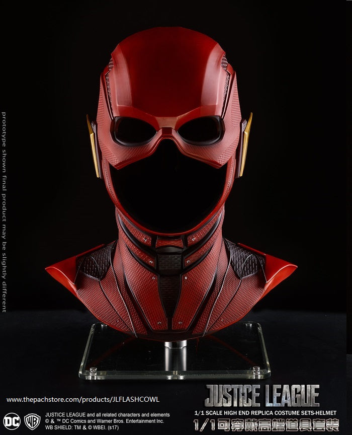 Official DC Licensed Justice League The Flash cowl 1:1 Movie Replica