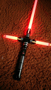 Kylo ren star wars custom lightsaber crossguard