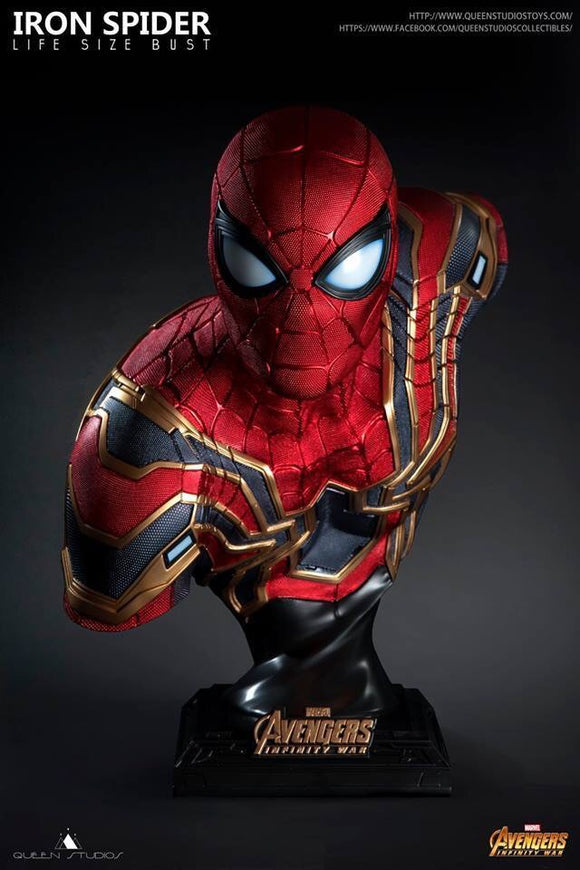 Queen Studio Iron Spider Life Size Bust - Marvel Licensed NEW JAN 19