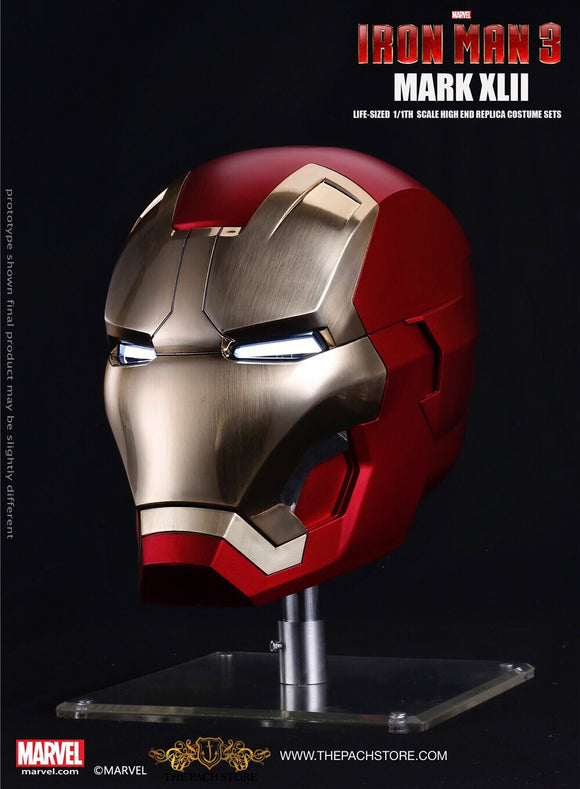 IRON MAN 3 - MK 42 Iron Man Helmet - Marvel Licensed 1/1 Movie Prop Replica