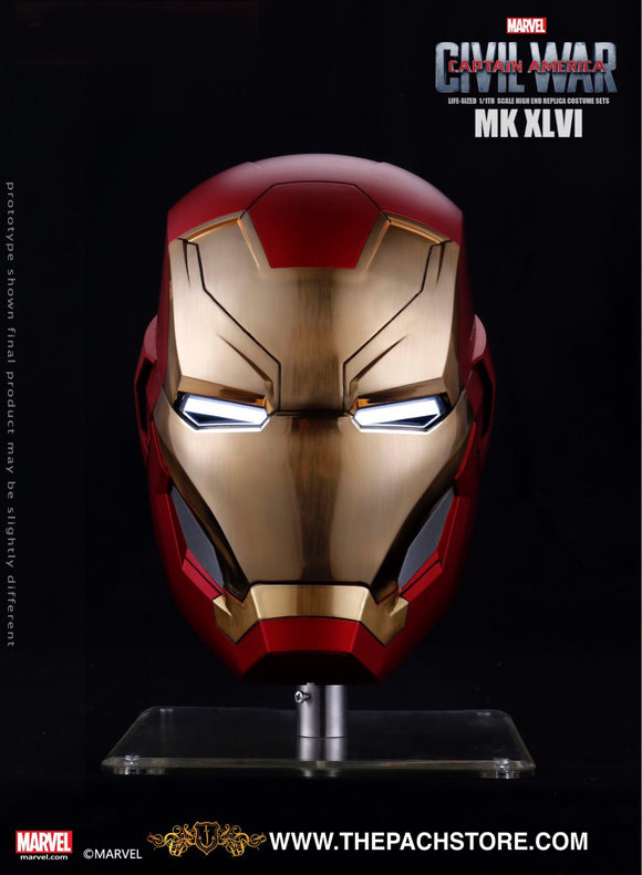 Avengers IRON MAN - MK 46 Iron Man Helmet - Marvel Licensed 1/1 Movie Prop Replica