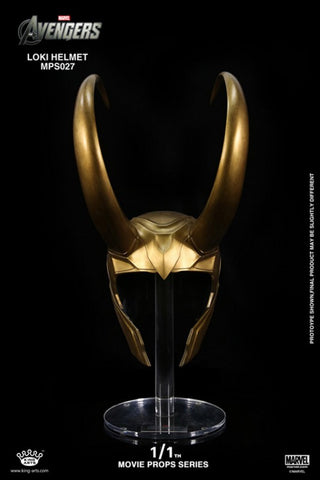 Marvel King Arts MPS027 1/1th The Avengers Loki Helmet Movie Prop Replica