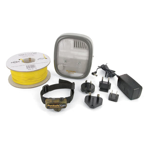 Limitador de zona deluxe In-Ground Cat Fence™ con cable para gatos