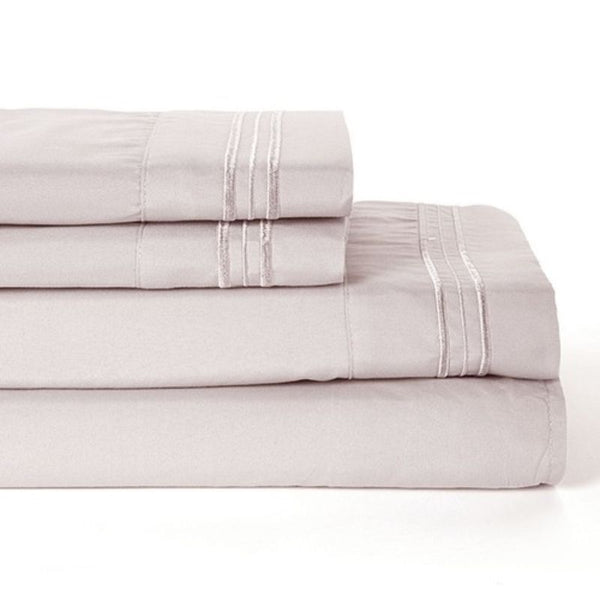 4 Piece Set Ultra-Soft Egyptian Comfort Deep Pocket Brushed 1800 Series