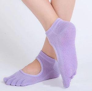 Yoga Anti-slip  5 Toe Socks - Lees Villa