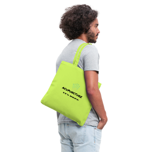 It's Dope Tote Bag - lime green