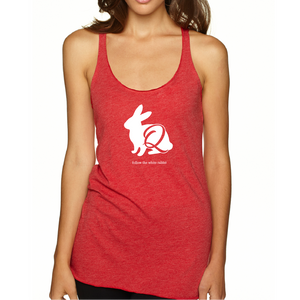 Follow the White Rabbit - Women's Tri-blend Racerback Tank