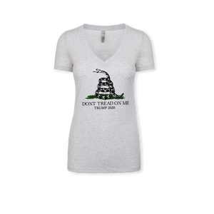 Don't Tread on Me - Ladies Tri-Blend V-Neck Tee