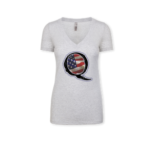 Q'merica - Ladies Tri-Blend V-Neck Tee