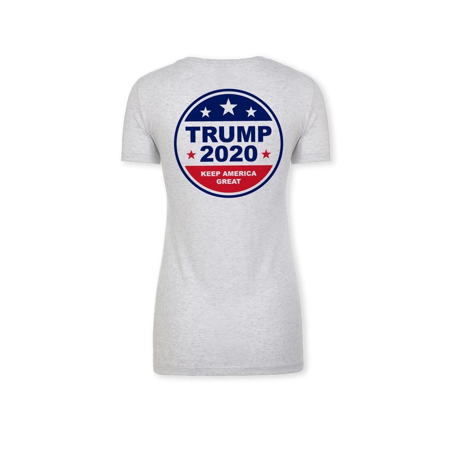 Trump 2020 - Ladies Tri-Blend V-Neck Tee