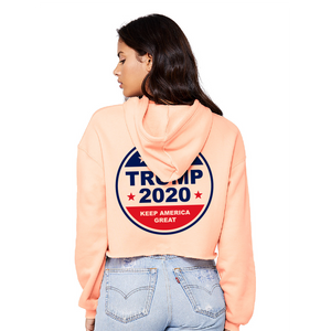 Trump 2020 - Ladies' Cropped Fleece Hoodie